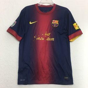 Men Vtg Nike FCB Barcelona Messi Jersey size M